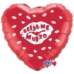 Balão Foil Coração de 18'' Beija-me Muito