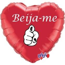 Balão Foil Coração de 18'' Beija-me