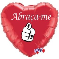 Balão Foil Coração de 18'' Abraça-me