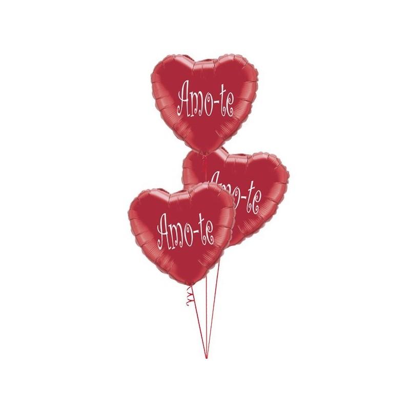 Amo-te balloon Bouquet