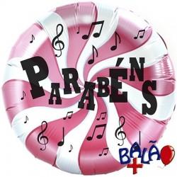 45cm balloon Parabéns Pink Lollipop