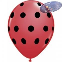Balloon 30cm with polka dots