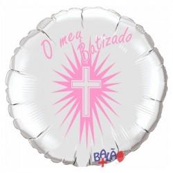 Balão Foil Redondo de 18''  O Meu Batizado