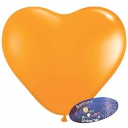 Balão coração 13cm Laranja