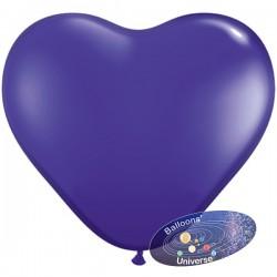 Heart balloon 13cm Purple