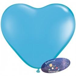 Balão coração 13cm Azul Claro