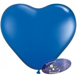 Balão coração 13cm Azul