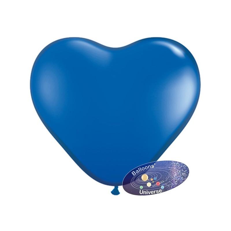 Heart balloon 13cm Blue