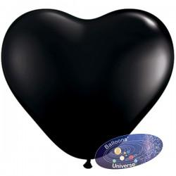 Balão coração 13cm Preto