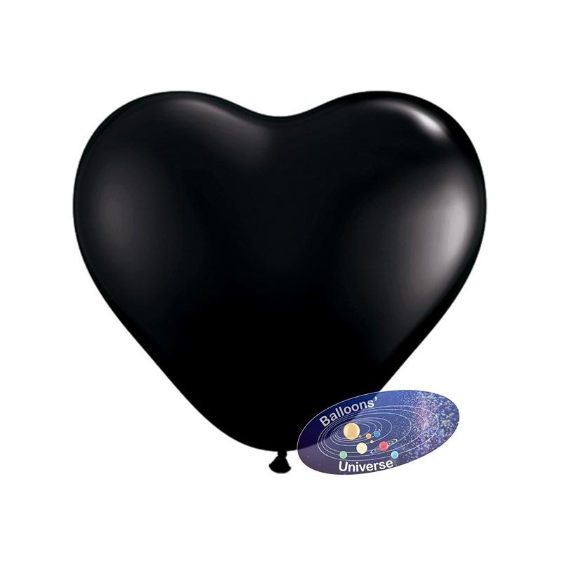 Heart balloon 13cm Black