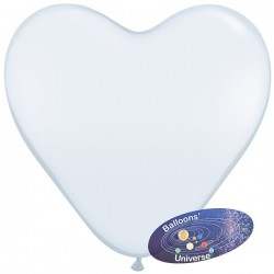 30cm White Heart Balloon