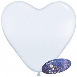 Balão coração de 30cm Branco
