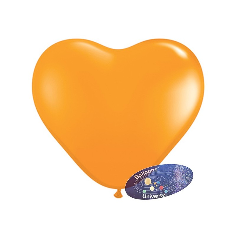 30cm Orange Heart Balloon