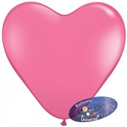 Balão coração de 30cm Rosa...