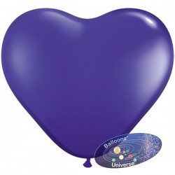 30cm Purple Heart Balloon