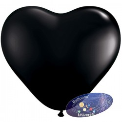 30cm Black Heart Balloon
