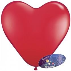 Balão coração de 30cm Vermelho