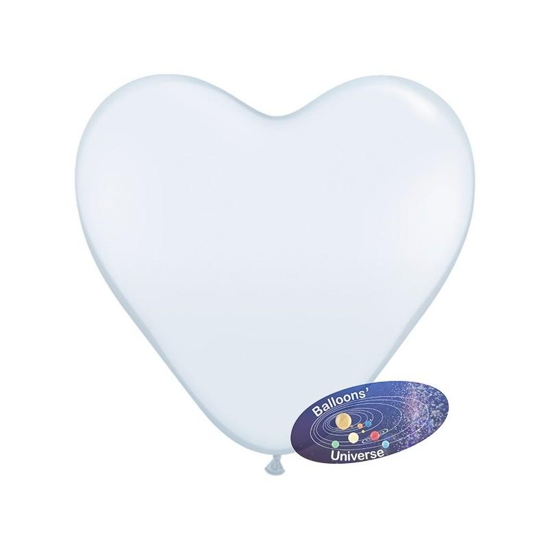 43cm White Heart Balloon