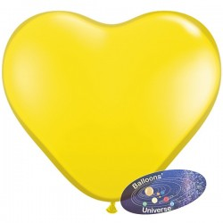 43cm Yellow Heart Balloon