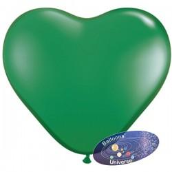 Balão coração de 43cm Verde