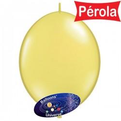 Balão LINK de 15cm Amarelo...