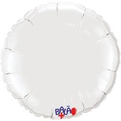 Balão Redondo de 23cm Branco