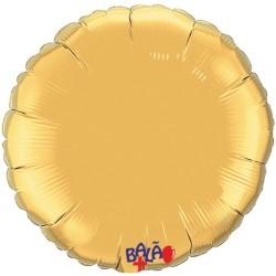 Balão Redondo de 23cm Dourado
