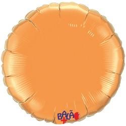 Balão Redondo de 23cm Laranja