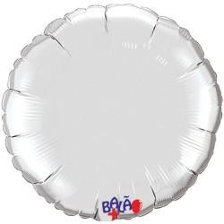 Balão Redondo de 23cm Prateado