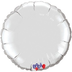 Balão Redondo de 90cm Prateado