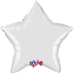 Balão Estrela de 90cm Branca