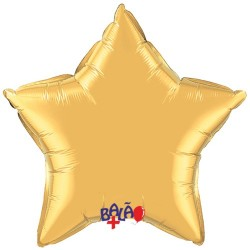 90cm Star Foil Balloon Gold