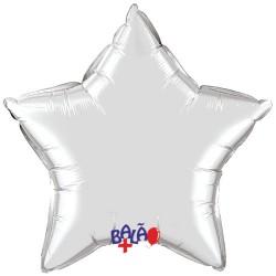 Balão Estrela de 90cm Prateada