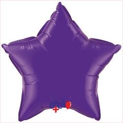 Balão Estrela de 90cm Roxa