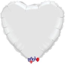 Balão Coração de 23cm Branco