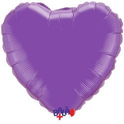 Balão Coração de 23cm Roxo