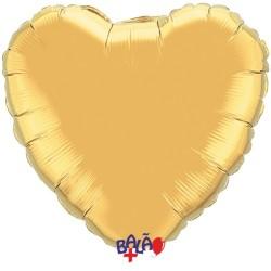 Balão Coração de 90cm Dourado