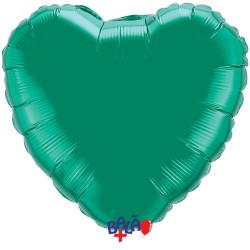 Balão Coração de 90cm Verde