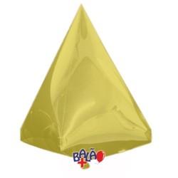 Balão Pirâmide de 45cm Dourado