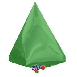 Balão Pirâmide de 45cm Verde