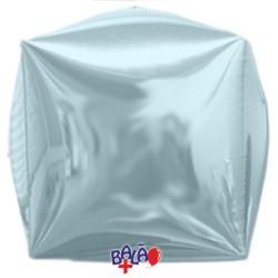 Balão Cubo de 40cm Azul Claro