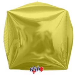 Balão Cubo de 40cm Dourado