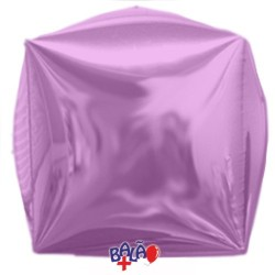 Balão Cubo de 40cm Rosa