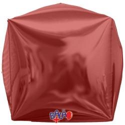 Balão Cubo de 40cm Vermelho