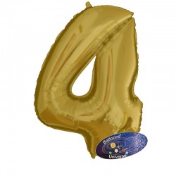 100cm Golden Number 4 Balloon
