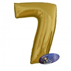 100cm Golden Number 7 Balloon
