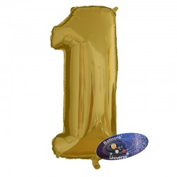 100cm Golden Number 1 Balloon