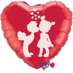Balão Coração de 45cm Meninos