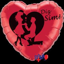 Balão Coração de 45cm Diz Sim