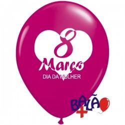 Balão 30cm 8 de Março Dia...